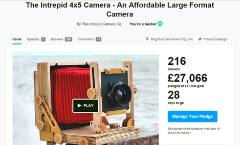 Intrepid camera funded