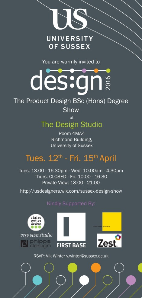 Product Design Show 2016 invite